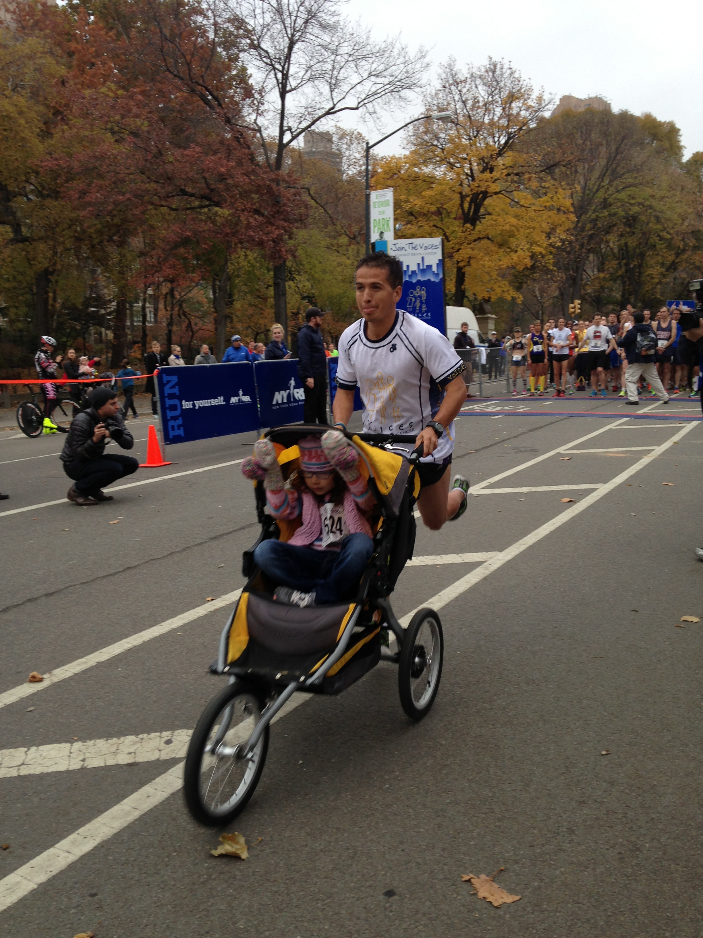 Father With Brain Cancer Wins Marathon With Daughter In Stroller